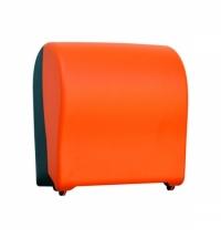 фото: Диспенсер для полотенец в рулонах Merida Unique Solid Cut Orange Line Matt Maxi CUO302 матовый оранжевый