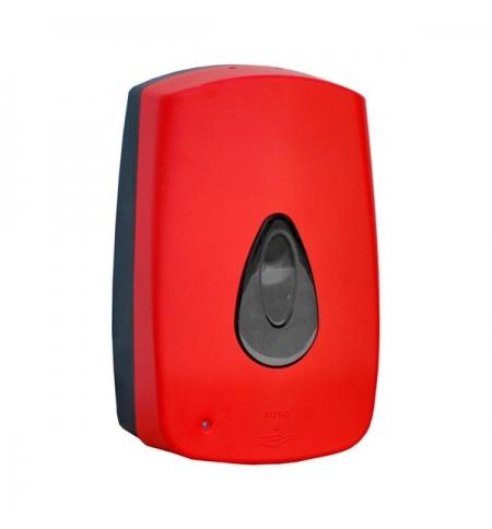фото: Диспенсер для мыла в картриджах Merida Unique Red Line Matt DUR501 сенсорный, матовый красный, 700мл