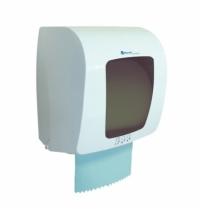 фото: Диспенсер для полотенец в рулонах Merida Top Mini белый с серым пластик, сенсорный