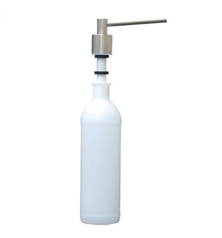 фото: Дозатор для мыла Merida DWM103 монтируемый на столешнице, цилиндр, матовый металлик, 1л