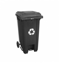фото: Контейнер-бак для мусора на колесах Merida 120л без крышки, с педалью, KJS412