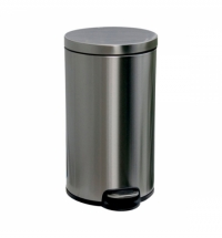 Контейнер для мусора с педалью Merida Silent 30л матовый металлик, с внутренним ведром, KIM416