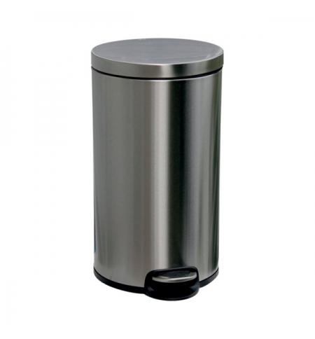 фото: Контейнер для мусора с педалью Merida Silent 30л матовый металлик, с внутренним ведром, KIM416