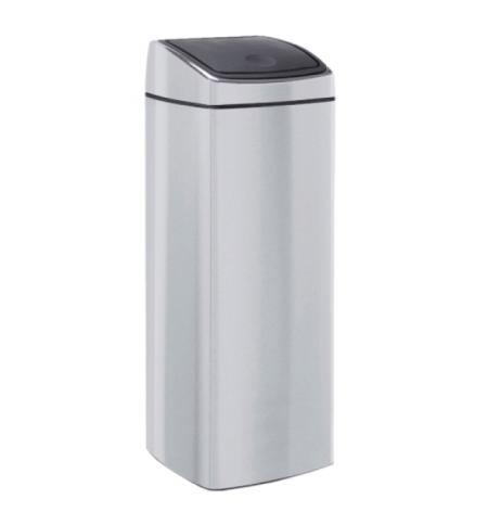 фото: Ведро для мусора Merida Touch Bin KMS44 25л, с автоматической крышкой, матовый металлик