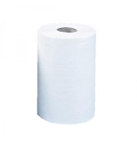 фото: Бумажные полотенца Merida Optimum Mimi в рулоне, белые, 2 слоя, 60м, 12 рулонов