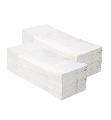фото: Бумажные полотенца Merida Z-Top 2860 PZ93.1 листовые, белые, 143шт, 2 слоя, 20 пачек