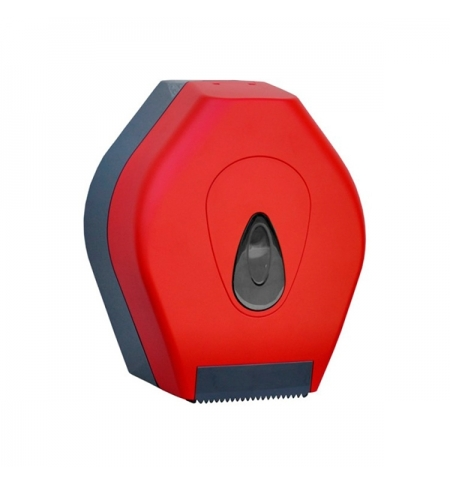 фото: Диспенсер для туалетной бумаги в рулонах Merida Unique Red Line Matt BUR201 матовый красный