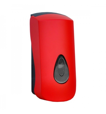 фото: Диспенсер для мыла в картриджах Merida Unique Red Line Matt DUR201 матовый красный, 700мл
