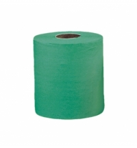 фото: Бумажные полотенца Merida UKZ001 в рулоне, зеленые, 400м, 1 слой, 2 рулона