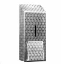 фото: Диспенсер для мыла в картриджах Merida Inox Desigh Honeyсomb Line Maxi DDH201, металлик с рисунком,