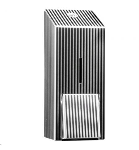 фото: Диспенсер для мыла в картриджах Merida Inox Design Pinstripe Line Maxi DDP201, металлик с рисунком,