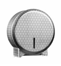 фото: Диспенсер для туалетной бумаги в рулонах Merida Inox Desigh Honeyсomb Line Mini BDH201, металлик с р
