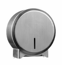 фото: Диспенсер для туалетной бумаги в рулонах Merida Inox Design Pinstripe Line Mini BDP201, металлик с р