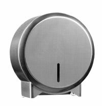 фото: Диспенсер для туалетной бумаги в рулонах Merida Inox Design Texture Line Mini BDT201, металлик с рис