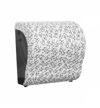фото: Диспенсер для полотенец в рулонах Merida Unique Lux Cut Charming Line Matt Maxi CUH307, матовый с ри