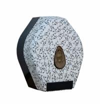 фото: Диспенсер для туалетной бумаги в рулонах Merida Unique Charming Line Matt BUH207, матовый с рисунком