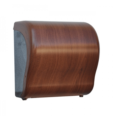 фото: Диспенсер для полотенец в рулонах Merida Unique Lux Cut Eco Line Matt Maxi CUH327, матовый под дерев
