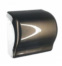 Диспенсер для полотенец в рулонах Merida Unique Lux Cut Exclusive Carbon Line Spark Maxi CUH371, гля