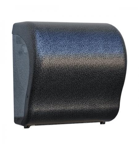 фото: Диспенсер для полотенец в рулонах Merida Unique Lux Cut Glamour Black Line Matt Maxi CUH319, матовый