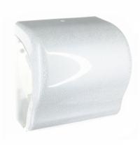 фото: Диспенсер для полотенец в рулонах Merida Unique Lux Cut Glamour White Line Spark Maxi CUH367, глянце