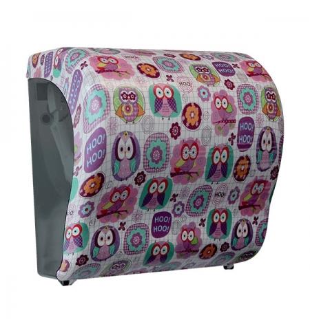 фото: Диспенсер для полотенец в рулонах Merida Unique Lux Cut Joy Line Matt Maxi CUH301, матовый с рисунко