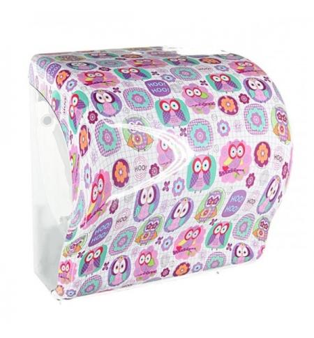 фото: Диспенсер для полотенец в рулонах Merida Unique Lux Cut Joy Line Spark Maxi CUH351, глянцевый с рису