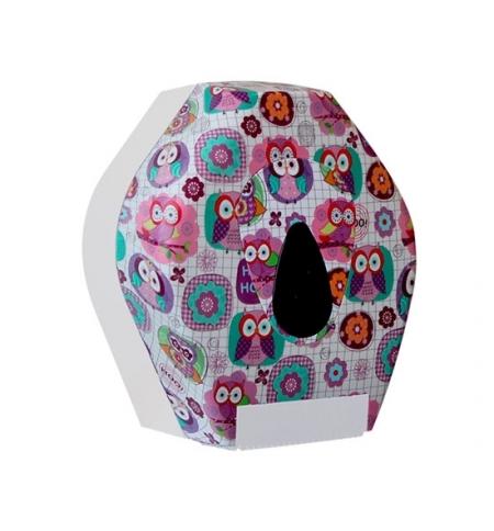 фото: Диспенсер для туалетной бумаги в рулонах Merida Unique Joy Line Matt BUH201, матовый с рисунком
