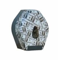 фото: Диспенсер для туалетной бумаги в рулонах Merida Unique Las Vegas Line Matt BUH213, матовый с рисунко