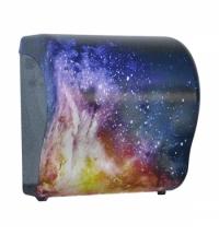 фото: Диспенсер для полотенец в рулонах Merida Unique Lux Cut Magic Line Matt Maxi CUH323, матовый с рисун