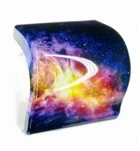 фото: Диспенсер для полотенец в рулонах Merida Unique Lux Cut Magic Line Spark Maxi CUH373, глянцевый с ри