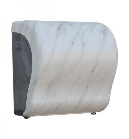 фото: Диспенсер для полотенец в рулонах Merida Unique Lux Cut Marble Line Matt Maxi CUH309, матовый под мр