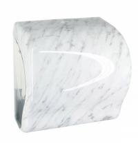 фото: Диспенсер для полотенец в рулонах Merida Unique Lux Cut Marble Line Spark Maxi CUH359, глянцевый под