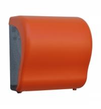 фото: Диспенсер для полотенец в рулонах Merida Unique Lux Cut Orange Line Matt Maxi CUO301, матовый оранже