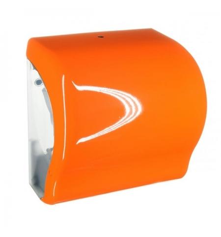 фото: Диспенсер для полотенец в рулонах Merida Unique Lux Cut Orange Line Spark Maxi CUO351, глянцевый ора
