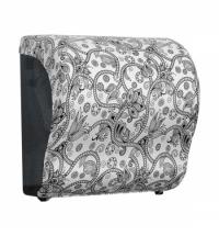 фото: Диспенсер для полотенец в рулонах Merida Unique Lux Cut Orient Line Matt Maxi CUH305, матовый с рису