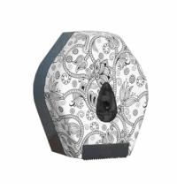 фото: Диспенсер для туалетной бумаги в рулонах Merida Unique Orient Line Matt BUH205, матовый с рисунком