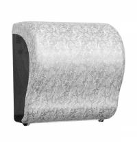 фото: Диспенсер для полотенец в рулонах Merida Unique Lux Cut Palace Line Matt Maxi CUH303, матовый с рису