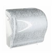 фото: Диспенсер для полотенец в рулонах Merida Unique Lux Cut Palace Line Spark Maxi CUH353, глянцевый с р