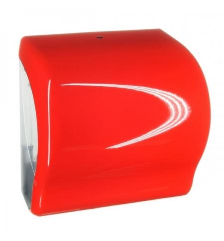 фото: Диспенсер для полотенец в рулонах Merida Unique Lux Cut Red Line Spark Maxi CUR351, глянцевый красны