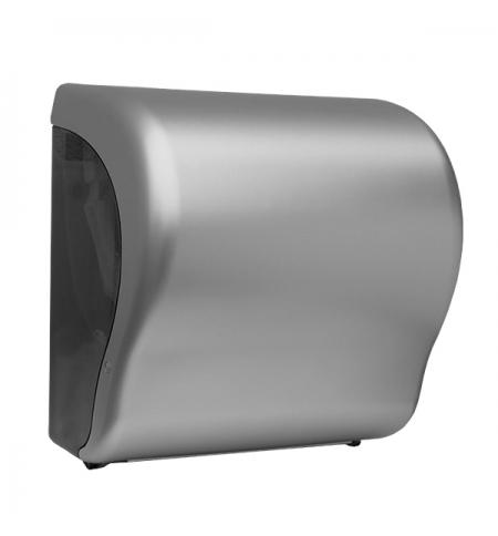 фото: Диспенсер для полотенец в рулонах Merida Unique Lux Cut Silver Line CUS301, матовый металлик