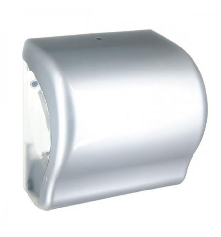 фото: Диспенсер для полотенец в рулонах Merida Unique Lux Cut Silver Line CUS351, глянцевый металлик