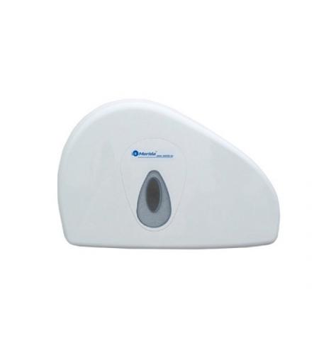 фото: Диспенсер для туалетной бумаги в рулонах Merida Top Duo Mini BTS202, белый/серый