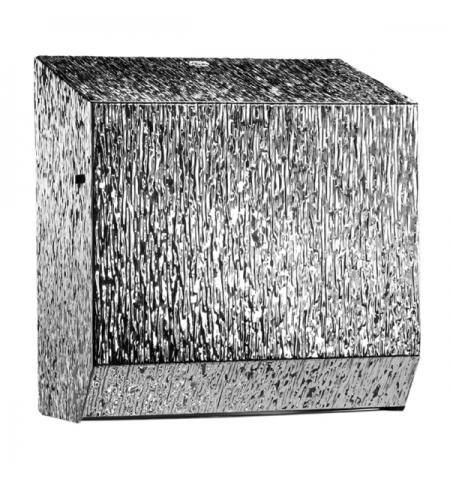 фото: Диспенсер для полотенец в рулонах Merida Inox Desigh Icicle Line Maxi CDI301, металлик с рисунком