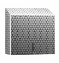 фото: Диспенсер для полотенец листовых Merida Inox Desigh Honeyсomb Line Maxi ADH101, металлик с рисунком,