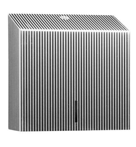 фото: Диспенсер для полотенец листовых Merida Inox Design Pinstripe Line Maxi ADP101, металлик с рисунком,
