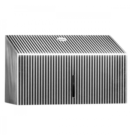 фото: Диспенсер для полотенец листовых Merida Inox Design Pinstripe Line Mini ADP201, металлик с рисунком,