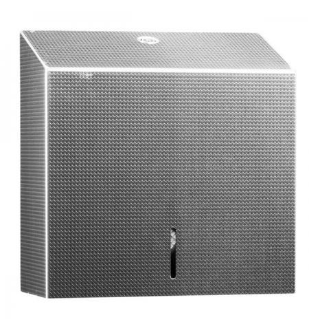 фото: Диспенсер для полотенец листовых Merida Inox Design Texture Line Maxi ADT101, металлик с рисунком, V