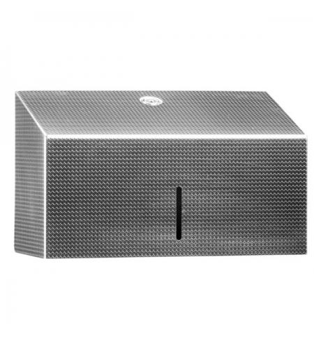 фото: Диспенсер для полотенец листовых Merida Inox Design Texture Line Mini ADT201, металлик с рисунком, V