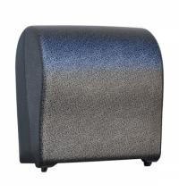 фото: Диспенсер для полотенец в рулонах Merida Unique Solid Cut Glamour Black Line Matt Maxi CUH320, матов