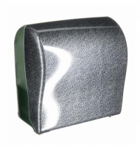 фото: Диспенсер для полотенец в рулонах Merida Unique Solid Cut Glamour Black Line Spark Maxi CUH370, глян
